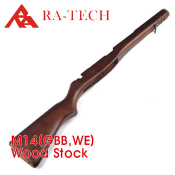 [RATech] M14 wood stock for WE GBB(Beech wood)